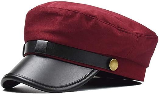 KFEK Sombrero de Lana de Moda Visera Sombrero Octogonal Militar ...