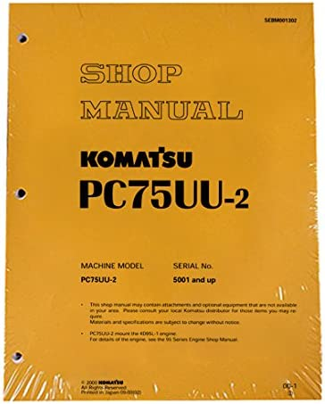 Komatsu Service PC75UU-2 Excavator Shop Repair Manual