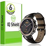Asus ZenWatch 3 Screen Protector (6-Pack), IQ Shield LiQuidSkin Full Coverage Screen Protector for Asus ZenWatch 3 HD Clear Anti-Bubble Film