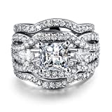 Best Ring With Silver Colors - Zealmer Rhinestone Stacking Wedding Ring Silver Color Cubic Review