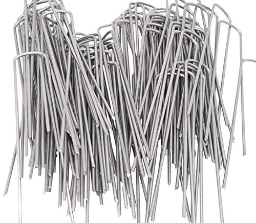 AAGUT 200 6 Inch Garden Stakes Galvanized Landscape Staples 11 Gauge Sod Pin GroundPegs_W200US
