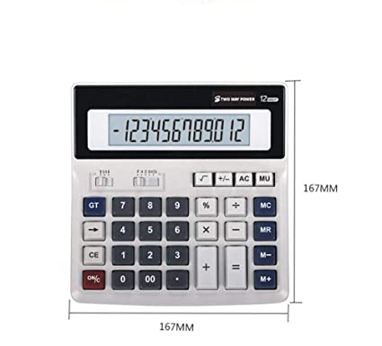 Calculadora de mesa botón de plástico solar doble alimentador ...
