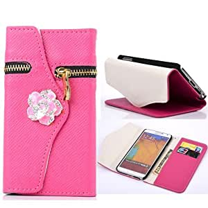 Note 3 Case, Galaxy Note 3 Case,Carryberry Galaxy Note 3 Case,Ezydiigtal Carryberry Samsung N9000 Galaxy Note 3 Bling Wallet Luxury Diamond Magnetic Flip Case for Samsung Galaxy Note 3 N9000