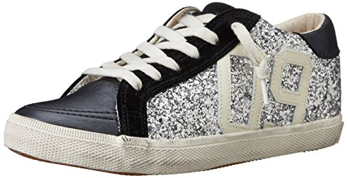 KIM&ZOZI Women's Glitter Low Fashion Sneaker - Silver - 8...