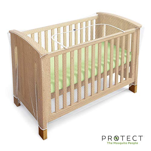 Mosquito Net for Crib - Baby Crib Net to Protect from Insects & Keep Baby in Safely - with Zipper Feature for Quick, Easy Access (by Luigi