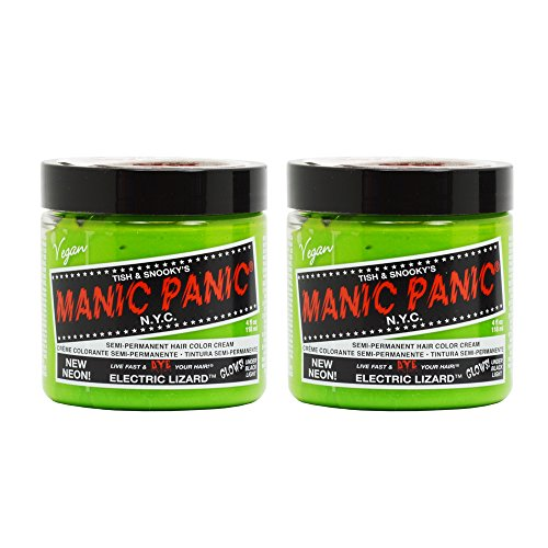 Bright Dye Green Hair - Manic Panic Semi-Permanent Hair Color Cream - Electric Lizard 4oz