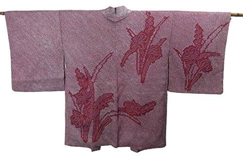 リサイクル 羽織 総絞り 水仙の花模様 正絹 裄65cm 身丈81cm