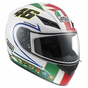 Casco Agv K-3 Replica Top Rossi Icon BLANCO/VERDE/ROJO T-L