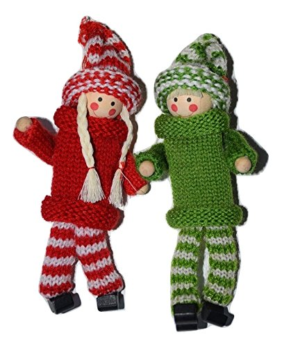 The Holiday Shoppe Christmas Elf Boy and Girl Holiday Decorative Ornaments and Mantle Decor, Kindness Elves to Teach Compassion and Kindness