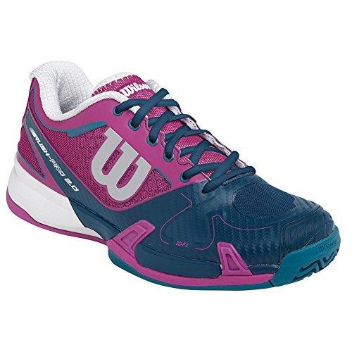 Wilson Rush Pro 2.0 Women's Tennis Shoes Dark Pink/Teal (9.5) (Shoes Tennis Women Wilson)