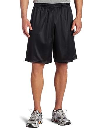 Soffe Men's Long Polyester Mini-Mesh Short Black Small