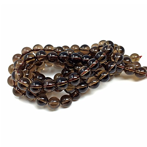 Bracelet Quartz Quartz Smoky - Chengmu 8mm Smoky Quartz Beads Natural Gem Round Loose Beads for Jewelry Making for Bracelet Necklace