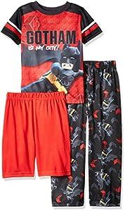 LEGO Batman Boys' 3-Pc Pajama Set Sleeve, Long Pant, and Short at Gotham City Store