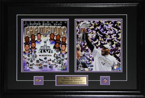 Ray Lewis Baltimore Ravens Superbowl XLVII 2 photo (Baltimore Ravens Picture Frame)