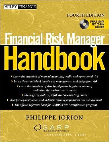 Financial Risk Manager Handbook (Wiley Finance): Philippe Jorion ...