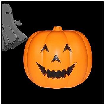 Máscara YN Halloween Pumpkin Light Illuminating Control de Voz Pequeño Ornamento de Linterna de Calabaza Tidy