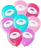 Donut Balloons (16 pcs) by Nerdy Words (Pinks, Aqua, Purple)