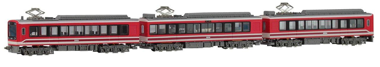 MODEMO Nゲージ 箱根登山鉄道2000形 デビュー時塗装 3両セット NT162 鉄道模型 電車   B07F7RCBH4