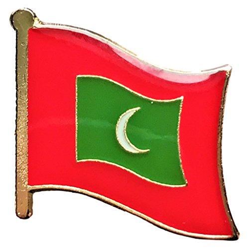 Maldives Flag Lapel Travel Pin For Hats  Backpacks  And Clothing  Maldives Broach  0 75  X 0 75