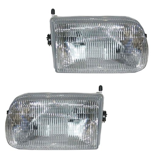 94-97 Mazda Pickup Truck B 2300 3000 4000 Headlight Headlamp Composite Halogen Front Head Light Lamp Set Pair Left Driver And Right Passenger (Mazda B4000 Truck Parts)