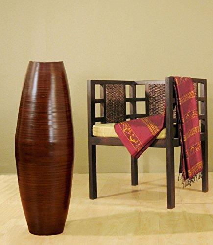 "GreenFloralCrafts 36"" Bamboo Cylinder Floor Vase - Brown"