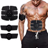 Abdominal Muscle Toner, Feisex Portable Fitness Training Gear EMS ABS Trainer Body Fit Toning Belts Wireless Muscle Exercise for Abdomen/Arm/Leg Training Men & Women Home Office Workout Equipment