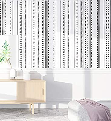 Haokhome 96021 1 Modern Triangle Peel And Stick Wallpaper Arrow Trellis Black White Vinyl Self Adhesive Contact Paper Decorative 17 7 X 9 8ft Buy Online At Best Price In Uae Amazon Ae