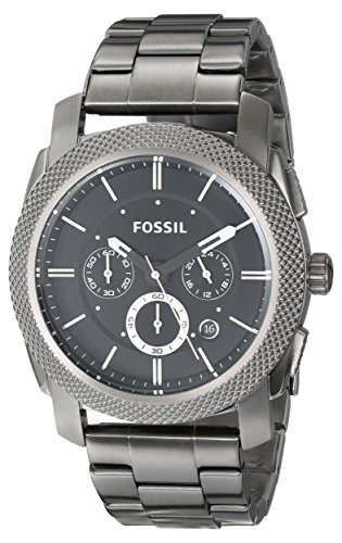 Fossil Men's FS4662 Machine Chronograph Stainless Steel Watch - (Fossil Mens Black Dial Watch)