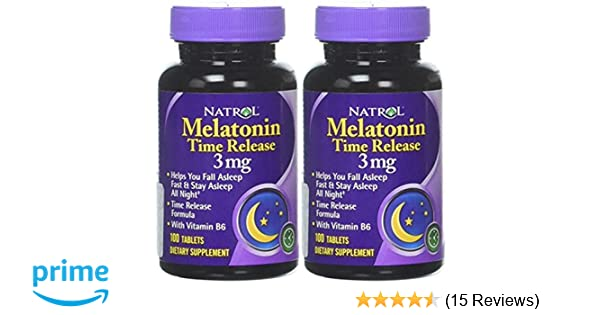 Amazon.com: Natrol Melatonin Time Release 100 tablets, 3mg (2 Pack): Health & Personal Care