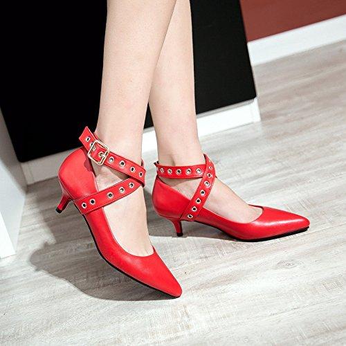 zapatos con punta baja número una elegante zapatos y mujer red gran Con solo versátil de vwYxHxq