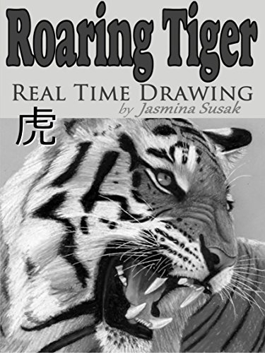 Roaring Tiger Real Time Drawing by Jasmina Susak by