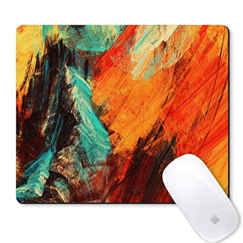 Galdas Mouse Pad Bright Artistic Splashes Abstract Painting Colorful Texture Design Mousepad Non Slip Rubber Gaming Mouse PadRectangle Mouse Pads for Computers Laptop - Art