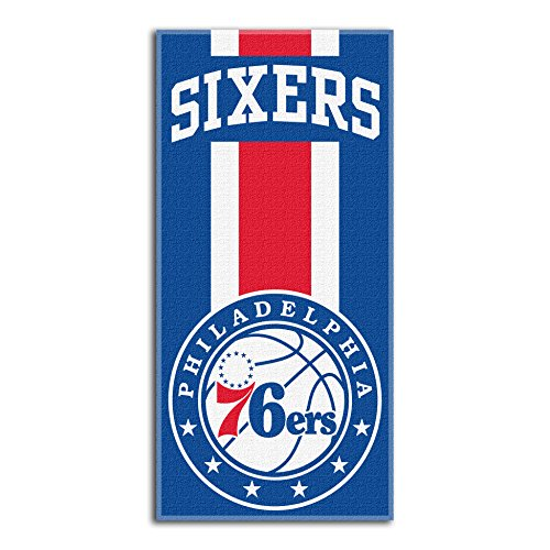 fan products of Northwest NBA Philadelphia 76ers Beach Towel, 30 X 60 Inches