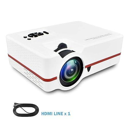 AINGOL Proyector LED HD Hogar Mini Función de Control Remoto por ...