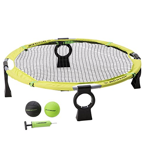 Dunlop Premium Spike Ball Battle Game Set - Spyderball Combo Sets for Lawn, Beach, Camping, Yard, Outdoor Games - Competitive or Recreational Slammo Volleyball Tournament - Fun Kit for Adults, Kids by Dunlop