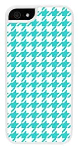 iPhone 6 Case, CellPowerCasesTM Turquoise Houndstooth [Flex2 Series] -iPhone 6 (4.7) White Case [iPhone 6 (4.7) V2 White]