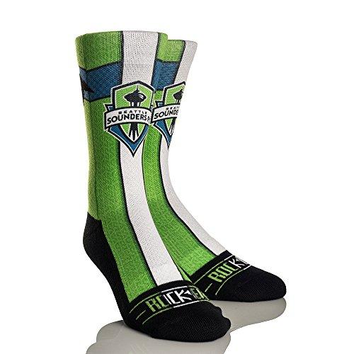 MLS Seattle Sounders Fc Jersey Series Custom Athletic Crew Socks, Small/Medium, Green