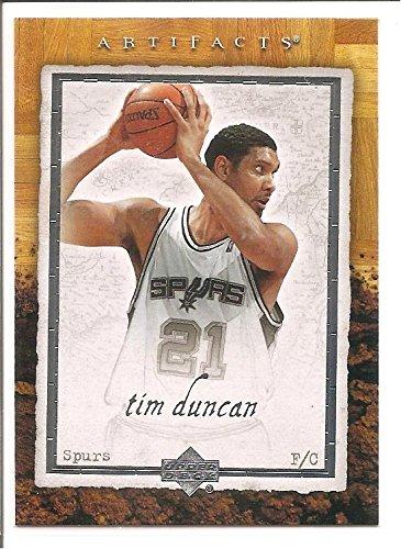 - Tim Duncan San Antonio Spurs 2007-08 Upper Deck NBA Artifacts Basketball Card #85