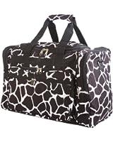 World Traveler Black Giraffe Duffle Bag 22-inch