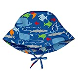 i play. Baby Boys Bucket Sun Protection Hat, Royal Blue Fish, 0/6mo