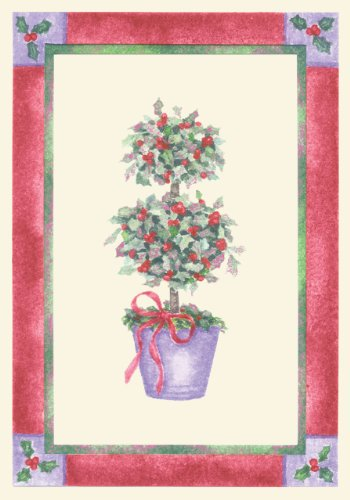 Holly Topiary Holiday Boxed Cards (Christmas Cards, Holiday Cards, Greeting Cards) (Topiary Card)