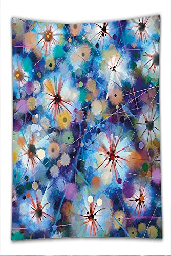 [Nalahome Fleece Throw Blanket Watercolor Flower Home Decor Vivid Fairy Pattern with Firefly Bug Mother Earth Design Turquoise Purple] (Firefly Bug Costumes)
