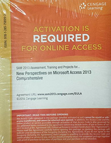Training and Projects with MindTap Reader for New Perspectives Microsoft Access 2013 Comprehensive Printed Access Card ()