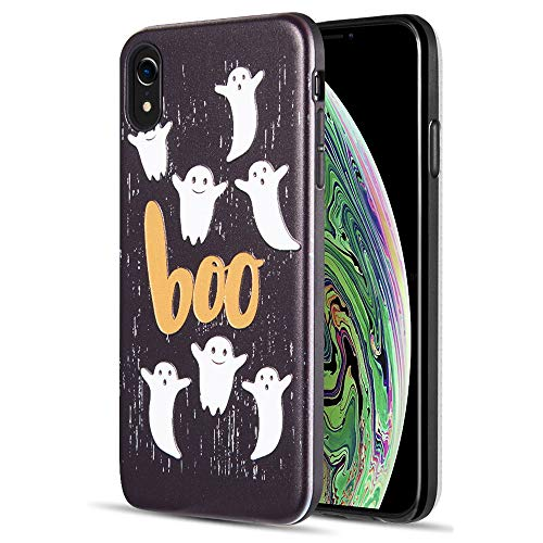[ Storm Buy ] Phone Case Compatible with [ iPhone Xs 2018 / iPhone X 2017 ] Case Halloween Ghost Spooky Series Protective Phone Case Sturdy Rubber Cover for iPhone X (Boo)]()
