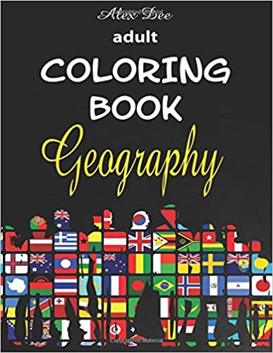 Adult Coloring Book Geography Stress Relieving Travel And Tourism Designs