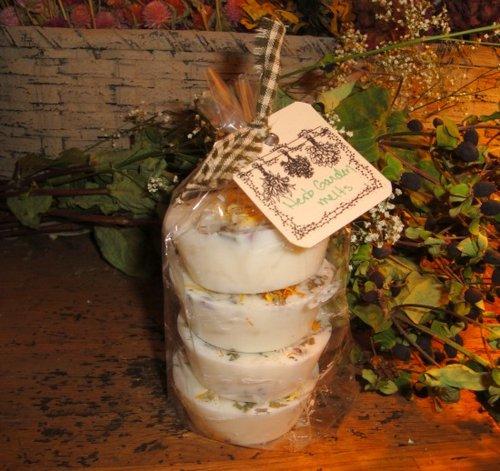 Crow's Nest Soy Melting Tarts - 4 Pack (Herb Garden)