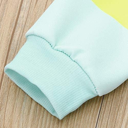 BaZhaHei Sweat-Shirt Enfants Gar/çon Filles Dessin Anim/é Chat Patchwork Tops Chaud Sweatshirt Pulls pour 18 Mois 5 Ans