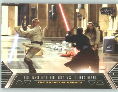 2012 Star Wars Galactic Files Duels of Fate #DF1 Obi-Wan Kenoibi / Qui-Gon vs. Darth Maul (Non-Sport Collectible Trading Cards)