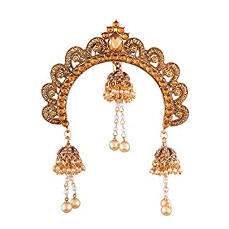 I Jewels Gold Plated Ethnic Jhumki Hair Accessory Juda Pin for Women 51n 2BYnne19L