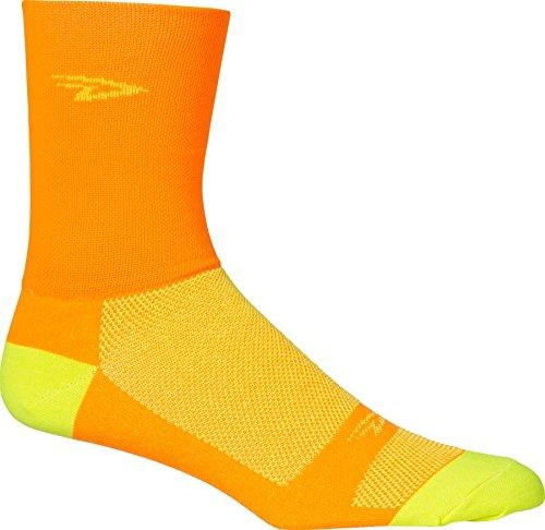DeFeet Aireator Hi Top Sock Orange/Yellow Medium